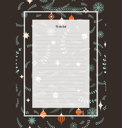 flowers poster christmas template seamless vector image