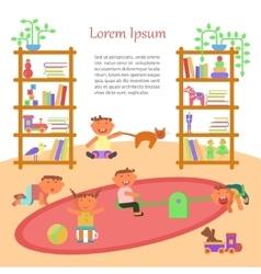 Happy childhood banner vector image vector image