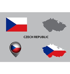 Map of Czech Republic and symbol vector image vector image