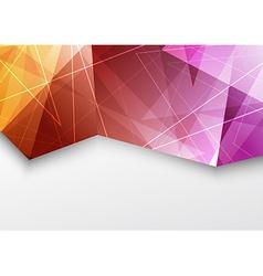 Purple color triangle pattern modern brochure vector image
