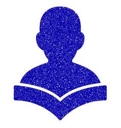 reader student icon grunge watermark vector image