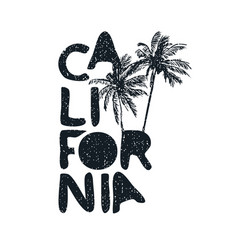 california beach tropical typography quote poster vector image