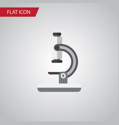 isolated microscope flat icon glass vector image