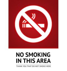 Label No smoking sticker vector image