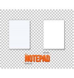 notepad set realistic empty notepad mockup vector image