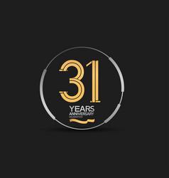 31 years golden anniversary logotype golden vector