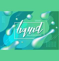 abstract green liquid banner background vector image