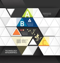 abstract infographic design minimal triangle shape vector image