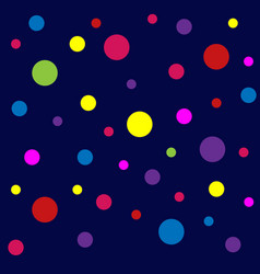 abstract pattern with dots colorful background vector image
