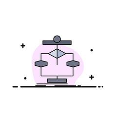 Algorithm chart data diagram flow flat color icon vector