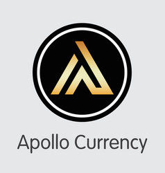 Apl - apollo currency the icon of coin or market vector