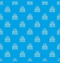 architecture pattern seamless blue vector image