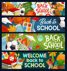 Back to school education chalkboard lessons books vector