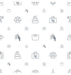 Balance icons pattern seamless white background vector