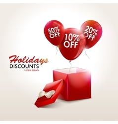 Balloons With Sale Discounts and with box vector