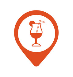 bar location icon cafe pinpoint isolated vector image