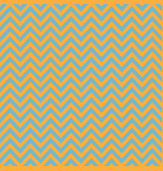 blue and orange chevron retro decorative pattern vector image