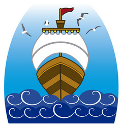 Boat in the sea 2 vector