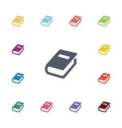 books flat icons set vector image