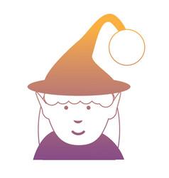 cartoon elf girl icon vector image
