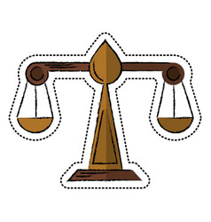 Cartoon justice scale law symbol vector