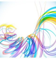 Colorful abstract technology spiral background vector image