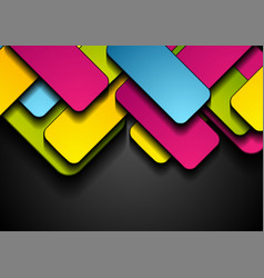 colorful rectangles abstract tech geometric vector image