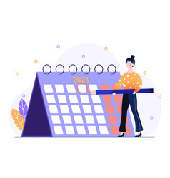 concept working time planning vector image