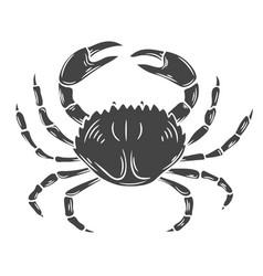 crab glyph icon vector image