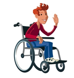 Disabled boy preview vector
