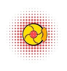 Disc brakes comics icon vector