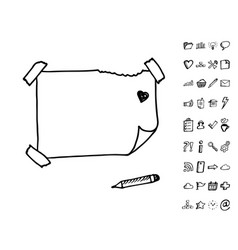 doodle note papers vector image