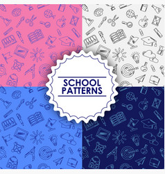 education supplies on school seamless pattern vector image