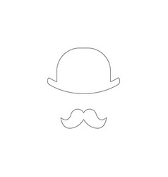 english gentleman flat icon vector image