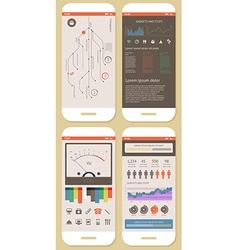 flat elements infographics vector image