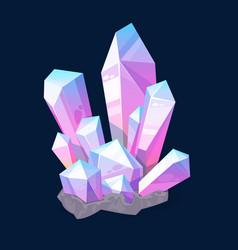 Gems jewelry crystals precious gemstone mineral vector