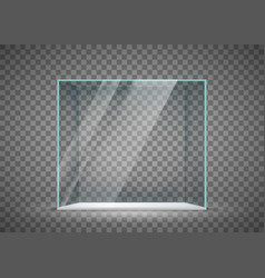 Glass empty cube vector