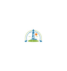 golf course logo icon vector image