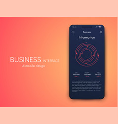 graphics mobile infographics with one vector image