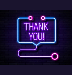 grateful thank you realistic neon sign to doctors vector image