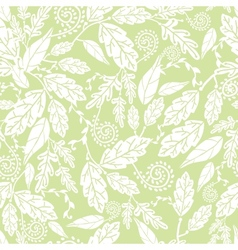 Green and white Leaves Seamless Pattern Background vector image