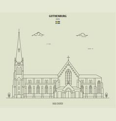 haga church in gothenburg sweden vector image