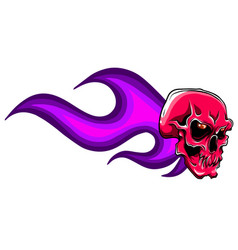 hand drawn burning skull vector image