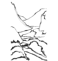 Hand drawn of mountain vector