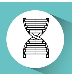 Hand holding dna chemical graphic vector
