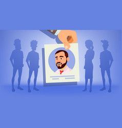 human recruitment man vacancy concept vector image