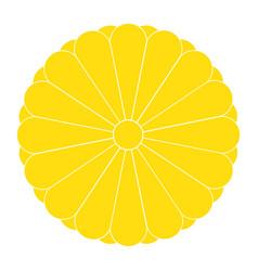 Imperial seal japan or national emblem vector