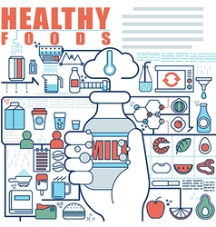 Infographics elements concept of Healthy Foods vector image