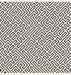 Irregular maze lines abstract geometric vector