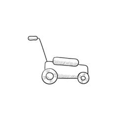 Lawnmover sketch icon vector image